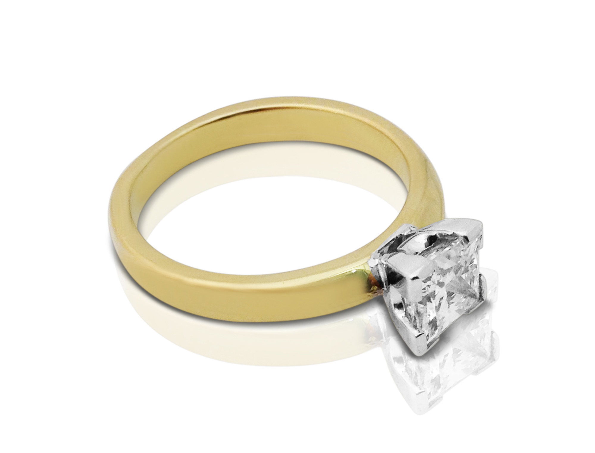 djcprs005 1ct claw set princess cut engagement