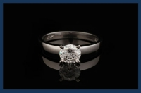 Solitaire Round Cut Diamond Rings