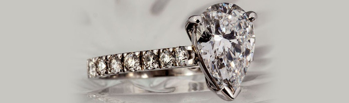 Pear Mixed Cut Diamond Ring
