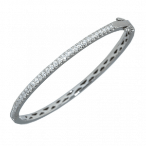 18ct yellow or white gold bangle - oval shape with hinge
